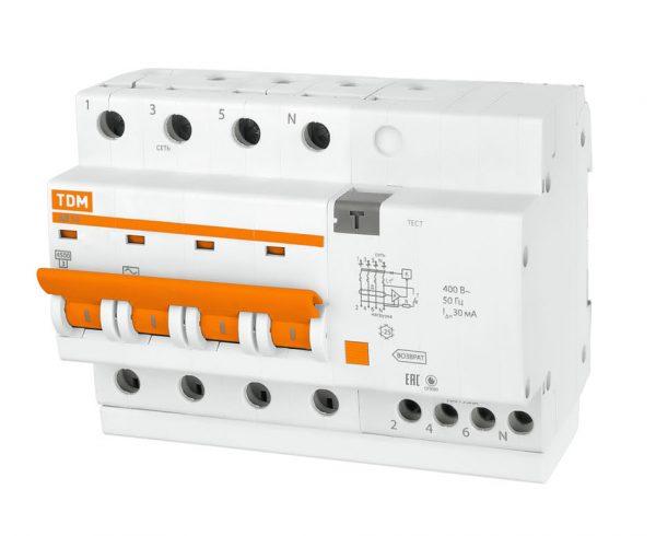 Дифференциальный автомат АД 4P