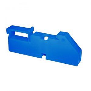 Изолятор на DIN рейку синий