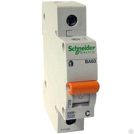 1п C 63А ВА63 Домовой 4.5кА Schneider Electric