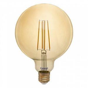 Светодиодная лампа GLDEN-G125S-8-230-E27-2700 Золотая (Филамент прозрачный)