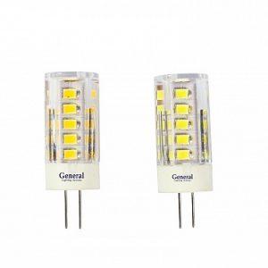 Светодиодная лампа G4 12 Вольт, пластик прозрачный