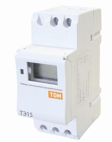 ТЭ15-1мин/7дн-8on/off-16А-DIN TDM
